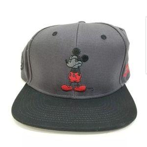Disney Mickey Mouse Hat NEFF Gray Snap Cap NWT